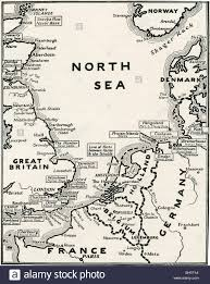 Ww1 Map Map Showing The Naval Bases Of The North Sea During World War One