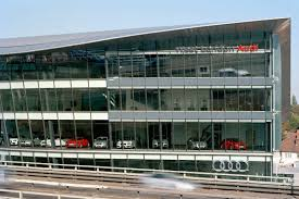audi headquarters world u0027s largest audi dealership with 190 000 sq ft opens in london