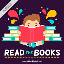 Book Free Download Flat Background Of Kid Reading A Book Vector Free Download