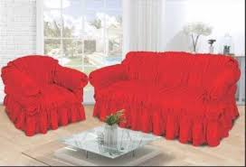 Red Sofa Slipcovers Jacquard Luxury Red Sofa Slip Cover Available In 1 2 3 Seater