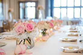 Pink And Gold Centerpieces by Corey Ann Photography Northeast Ohio Wedding Photographer