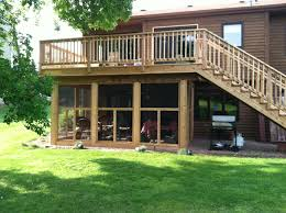 a great screened in porch under the deck or create a storage area