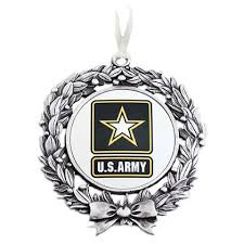 sales inc us army sublimated wreath ornament