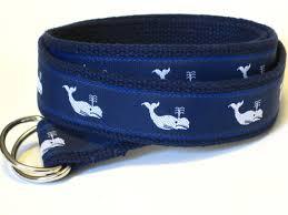 whale ribbon whale belt canvas belt d ring webbing belt ribbon belt for