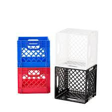 milk crate shelves milk crate authentic dairy crate the container store