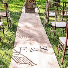 wedding runner 50 foot personalized burlap aisle runner