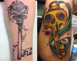 skeleton key tattoos cool examples ideas u0026 their meanings