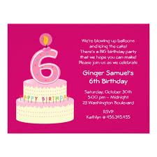 birthday invites popular 6th birthday invitation wording ideas