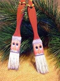 these paintbrush ornaments will delight both the