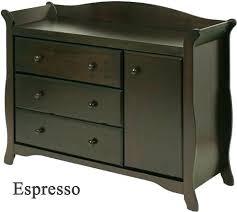 Baby Dresser Changing Table Combo Changing Table Dresser Espresso Luisreguero