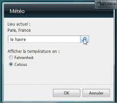 gadget bureau meteo pc astuces afficher la météo sur le bureau windows vista