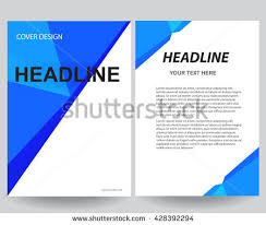 graphic design templates for flyers abstract blue flyers brochure annual report stock photo photo