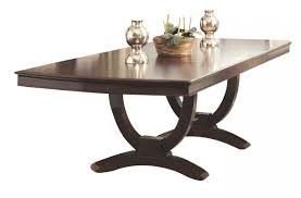 Coaster Dining Room Sets Coaster Alyssa Trestle Dining Table In Dark Cognac 105441 By