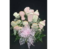cookie arrangements baby flower arrangements for baby boy or girl