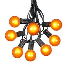g40 globe string lights with 25 yellow globe bulbs use