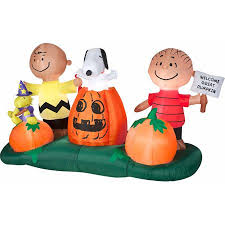 5 airblown inflatables animated peanuts pumpkin patch