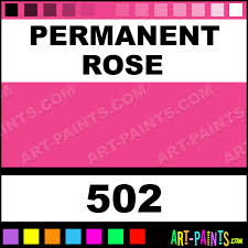 permanent rose artist watercolor paints 502 permanent rose
