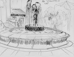 20 water fountain drawing simple water fountain drawing