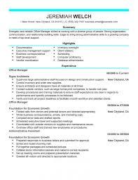 Best Resume Set Up by Lovely Inspiration Ideas Office Manager Resume Sample 5 Best