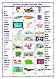 thanksgiving vocabulary pictures 31 free esl compound words worksheets