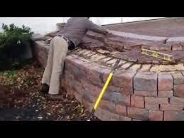 Raised Patio Construction Retaining Wall Repair With Raised Patio Youtube