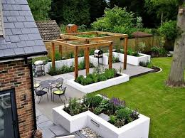 modern patio contemporary landscape ideas composite decking wood pergola