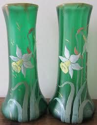 vasi decorativi coppia di vasi decorativi stile liberty decoro floreale ebay