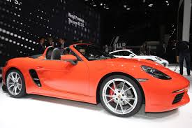 orange porsche convertible new porsche 718 boxster prices specs and full details of flat