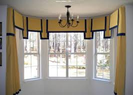 House Design Bay Windows by Bay Windows Using Yellow Curtains And Valances Different Types