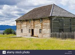 old log cabin house building at fort saint st james national