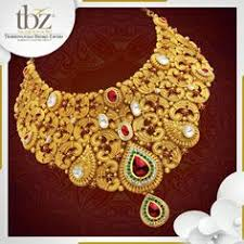 exclusive tbz gold necklace choker bridal collection designs