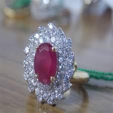 ruby diamond ring finger ring ruby diamond ring retailer from jaipur
