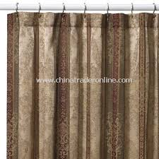 Croscill Opulence Shower Curtain By The Sea Shower Curtain Gold Links Fabric Shower Curtain