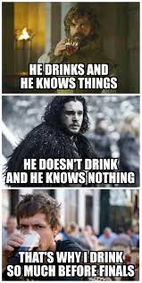 Meme Game - brace yourself finals are coming game of thrones know your meme