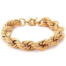 gold chain rope bracelet images Run dmc fat 16mm 18k gold rope dookie chain bracelet hip hop jpeg