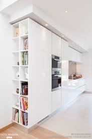 cuisine cote maison cuisine blanche design armony daumesnil finition extrême blanc