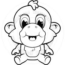 monkey clip art black and white clipart panda free clipart images