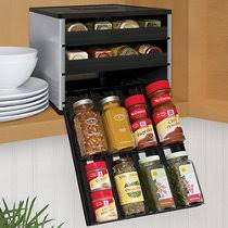 In Drawer Spice Racks In Drawer Spice Rack Organizer