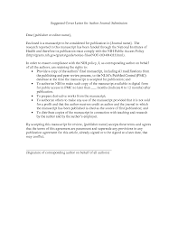 Cover Letter For Journal Submission Template Wonderful Paper Guide