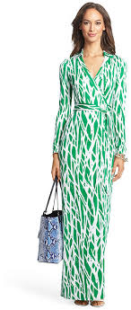 dvf wrap dress diane furstenberg heritage new jeanne two maxi silk