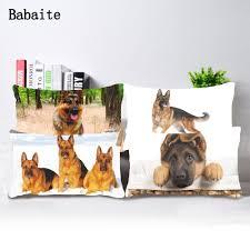 compare prices on german shepherd home online shopping buy low babaite doggy german shepherd dog diy throw pillow case cover bedding set twin sides drop ship
