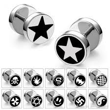 stud earrings for men new arrival men earrings titanium steel barbell earrings fashion