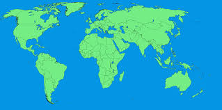 World Map Simple Vector by World Map Clipart Blue