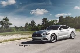 Silver Mustang Black Rims Warranty Velgen Wheels