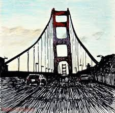 how to draw the golden gate bridge golden gate bridge step by