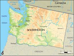 Canada Physical Map Map Of Washington Travel Map Vacations Travelsfinders Com