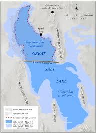 world map oceans seas bays lakes salt crust on great salt lake s arm utah geological survey