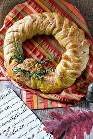 thanksgiving wreath thanksgiving wreath braided bread centerpiece breadbakers