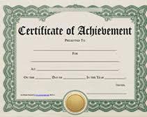free printable award certificate template word achievement award