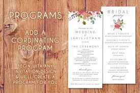invitation design programs wedding programs bloom on paper